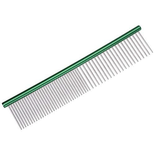 LAURUSQ Pettini antistatici per cani e gatti, con setole a pelo lungo, colore: verde, taglia S