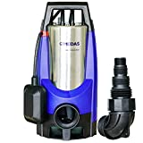 MEDAS 1100W 20000 L/H Aquasensor Sump Pump Electric Portable Submersible Water Pumps for Swimming Pool Garden Tub Pond with 36-Foot Cord
