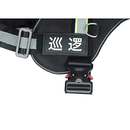 Dog Harness Dog Reflective Safety Vest No-Pull Breathable Adjustable Pet Vest with Handle for Outdoor Walking Working (Color : DIY Wordmark)