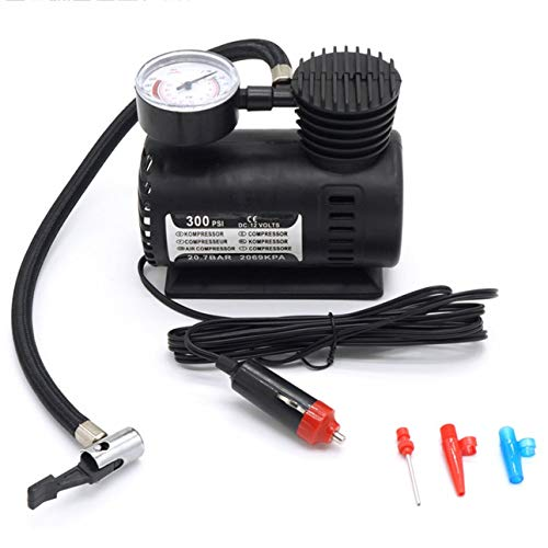 Ba30DEllylelly Mini-Luftkompressor Elektropumpe ABS Kfz Langlebige Fahrzeugluftpumpe 300 PSI Reifenfüllerpumpe DC 12V Autoteile