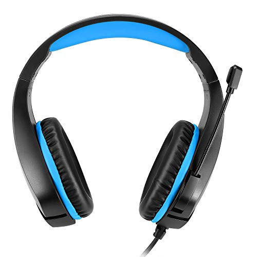 Cosmic Byte Stardust Headset with Flexible Mic for PS5, PS4, Xbox One, Xbox Series 5, Laptop, PC, iPhone and Android Phones (Black/Blue)