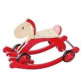 LALAWO Freizeitstuhl für Kinder Kinder Dual-Zweck-Trojaner Shake Horse Baby Spielzeug Kleinkind Tretauto Shake Baby einjähriges Geburtstagsgeschenk