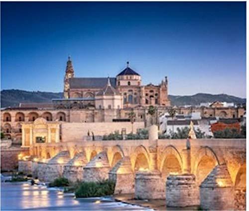 Puzzle 1000 Piezas Puente Romano Y Río Guadalquivir Gran Mezquita Córdoba España Arte Bricolaje para Adultos Mayores Adultos