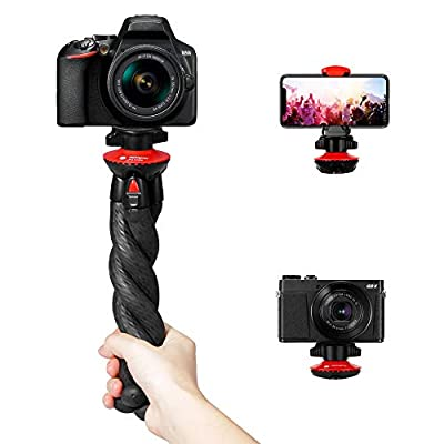 Camera Tripod, Fotopro Flexible Tripod, Tripods for Phone with Smartphone Mount for iPhone Xs, Samsung, Tripod for Camera, Mirrorless DSLR Sony Nikon Canon by Fotopro