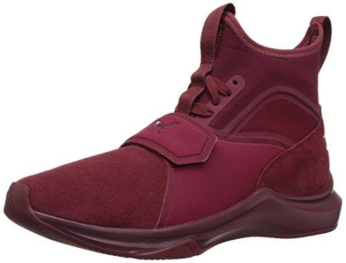 PUMA Women's Phenom Suede Wn Sneaker, Cordovan-Cordovan, 8.5 M US