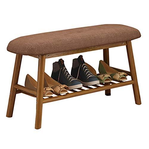 Meubles à chaussures Tabouret de stockage de chaussures en bois massif tabouret de stockage de tabouret peut asseoir les gens canapé pliant tissu jouet stockage stockage multifonctionnel chaussures ba