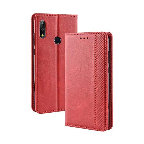 Belle copertine Smartphone Custodia in pelle Flip orizzontale retro con fibbia magnetica for Asus Zenfone Max Plus (M2) ZB634KL / Zenfone Max Shot ZB634KL, con portautensili e fessure for carte e port