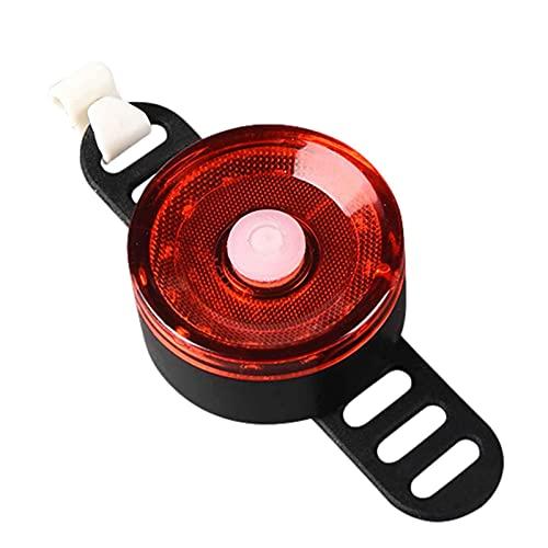Luz trasera de bicicleta inteligente LED recargable por USB, luz trasera de bicicleta ultra brillante, IPX6 a prueba de agua con 5 modos de luz Luz trasera de bicicleta para cualquier biciclet