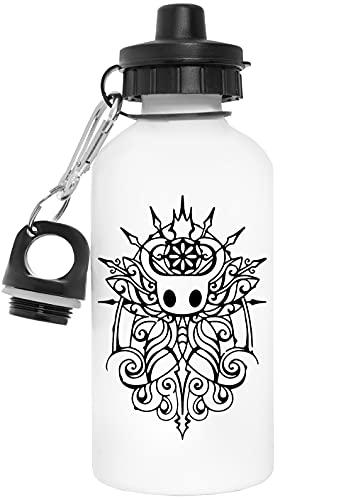 Hueco Caballero Reutilizable Blanco Aluminio Botella de Agua Reusable White Aluminium Water Bottle