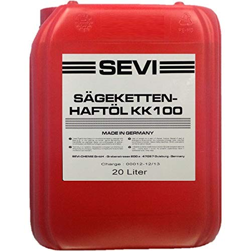 20 Liter SEVI Sägekettenöl mit Superhaft Zusatz, Kettensägeöl mineralisch
