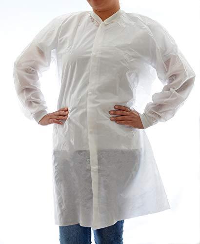 Dealmed Disposable SMS Lab Coat, No Pockets, White, X-Large, 50/Case