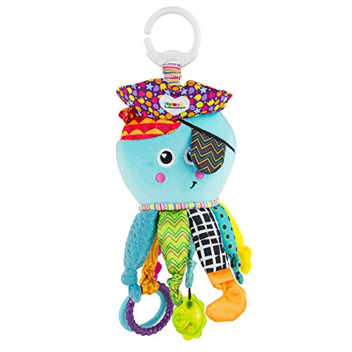 Lamaze Baby Spielzeug Captain Calamari, die Piratenkrake Clip & Go - hochwertiges Kleinkindspielzeug - Greifling Anhänger zur Stärkung der Eltern-Kind-Bindung - ab 0 Monate