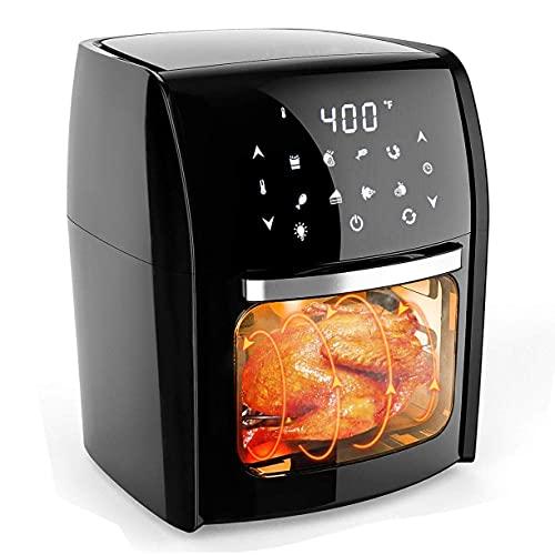 Freidora Aire Digital para Patatas Fritas y Comidas saludables sin Aceite con 12,7 qt Gran Capacidad,freidora Aire Digital Multiusos 7 en 1,freidora eléctrica 1700 W / 110 V