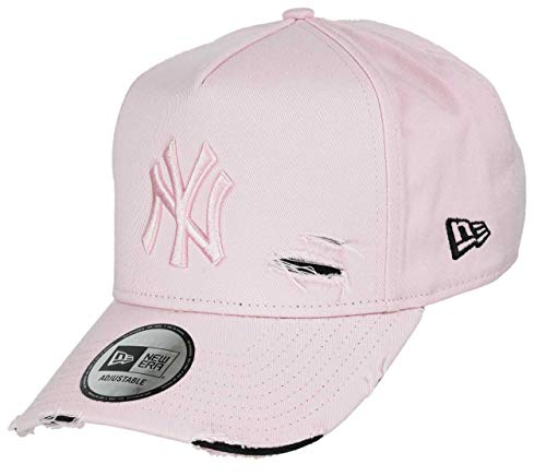 New Era York Yankees 9forty A Frame Adjustable Cap Distressed Pink/Black - One-Size