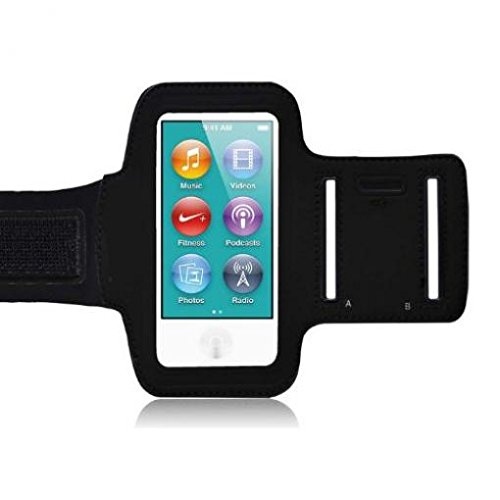 Armband Sports Gym Workout Cover Case Running Arm Strap Band Pouch Neoprene Black for iPod Nano 7th Gen