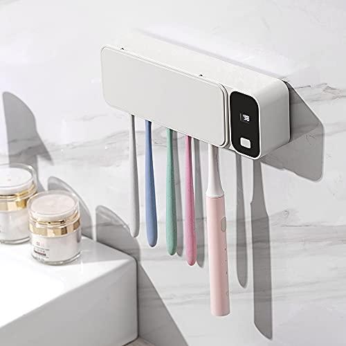Scatola multifunzionale per la disinfezione dello spazzolino da denti, disinfettante per spazzolini a raggi ultravioletti, asciugatura automatica dell'aria