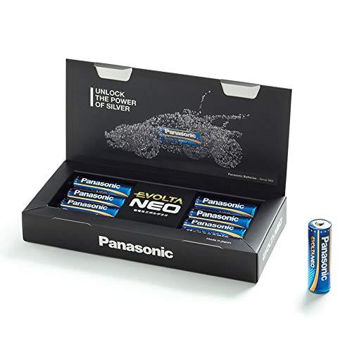 Oferta de Panasonic EVOLTA NEO Pila alcalina Mignon LR6 1.5 V, Rendimiento alto, Duraderos y seguros, Paquete como caja de almacenamiento con 8 pilas AA