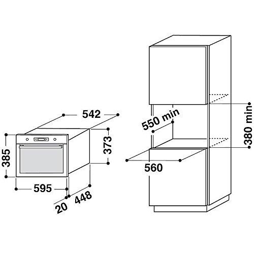 Whirlpool - AMW731IX - Micro-ondes encastrable - Fonction Gril - 38,5 x 59,5 x 51.4 cm