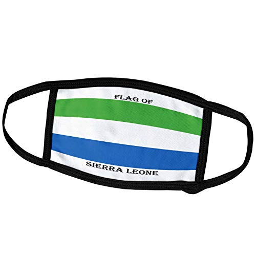 3dRose fm_211364_1 Face Mask Large Gesichtsmaske, Polyester, Flagge Sierra Leone
