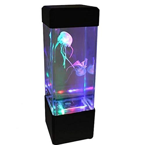 KHHGTYFYTFTY Luz de fantasía del Color del LED 5 Cambia la luz del Acuario del Tanque de los Pescados de Jalea lámpara del Humor para la decoración casera Negro (batería no incluida)