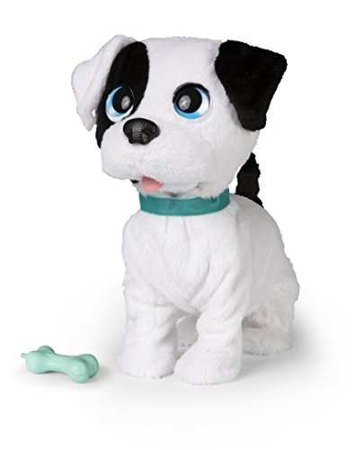Club Petz- Bowie Kissing Puppy Peluche, 96899, Gris