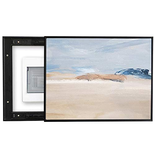 Cuadro de medidor eléctrico de arte simple, cuadro decorativo, grietas de la mancha de la pared de la sala de estar, pintura abstracta de push-pull vertical, caja de conexiones de oclusión multimedia