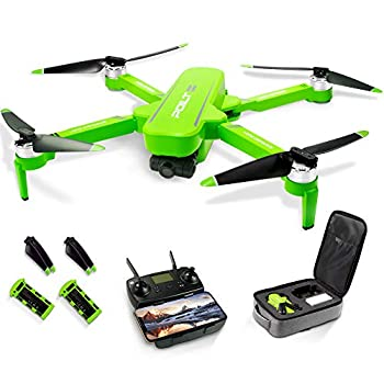 Foldable GPS Drone 6K 5G WiFi Drone with HD Anti-Shake Camera for Adults RC Quadcopter Gimbal with Brushless Motor Follow-me Waypoint Human Tracking and Palm Control 60Mins Flight