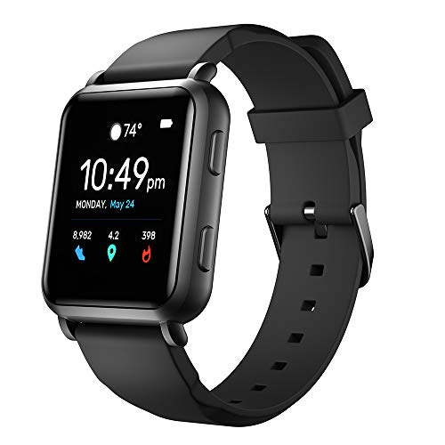 Smart Watches with Connected GPS Fitness Tracker Heart Rate Monitor Step Calorie Counter Sleep Monitor Music Control IP68 Water Resistant Activity Tracking Pedometer for Women Men