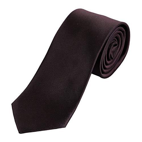 DonDon DonDon Herren Krawatte 7 cm klassische handgefertigte Business Krawatte Braun für Büro oder festliche Veranstaltungen