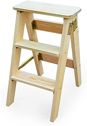 Portátil escalera plegable de madera de heces/casa escalada banco de madera/multifunción de tres pasos heces/taburete de la pesca,A