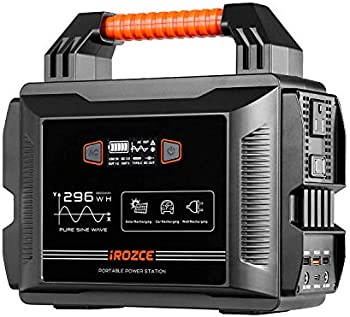 iRozce 300W Portable Solar Generator with 80000mAh Lithium Battery