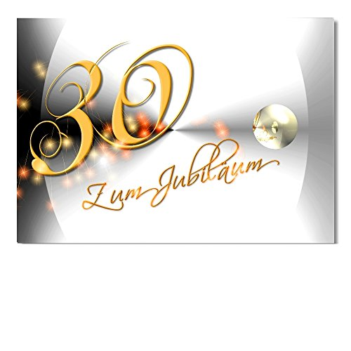 DigitalOase Jubiläumskarte 30. Jubiläum A5 Glückwunschkarte Grußkarte Klappkarte Umschlag #YANG