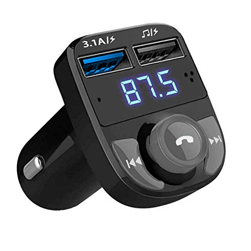 QUMOX Bluetooth Coche Transmisor de FM Radio MP3 Reproductor Cargador USB