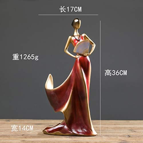 yueyue947 Ventaglio Pieghevole in Stile Beauty Red Wine Rack Resina Creativa casa Soggiorno Decorazione manufatti per l'arredamento casa Regali-in Figurine/C