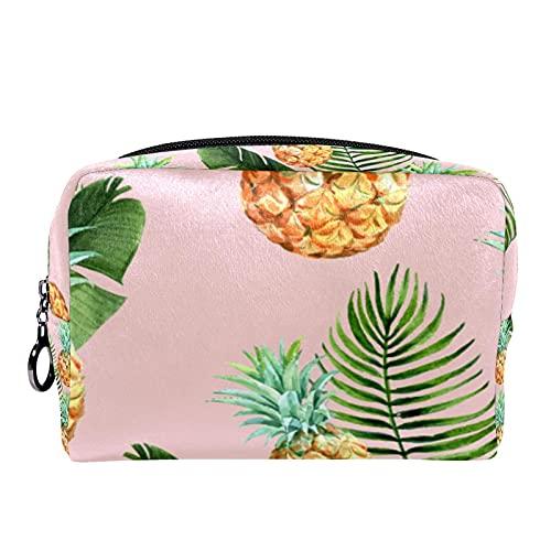 Tropical Flowers & Birds-01 (7.3x3x5.1in/18.5x7.5x13cm) Bolsas de viaje para cosméticos de viaje bolsa de maquillaje para mujeres y niñas
