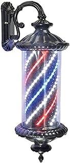 SAFGH Luz giratoria para peluquería al Aire Libre, luz LED para peluquería, señal de Giro para Peluquero, lámpara de señal...