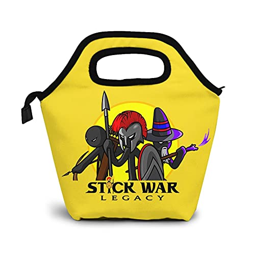 Stick War Legacy Lunch Bag Ladies Large Capacity Reusable Warmth For Picnic Beach Park Lunch Box