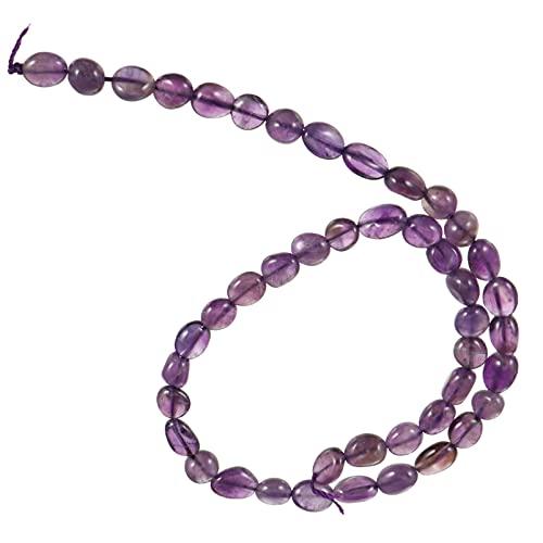 IMIKEYA Cuentas de Cristal Púrpura Cadena de Cuentas de Forma Irregular Cadena de Piedras Preciosas Cadena DIY Cuentas de Cristal Chip para Collar Pulsera Joyería