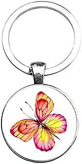 Sleutelhanger Glas - Vlinder