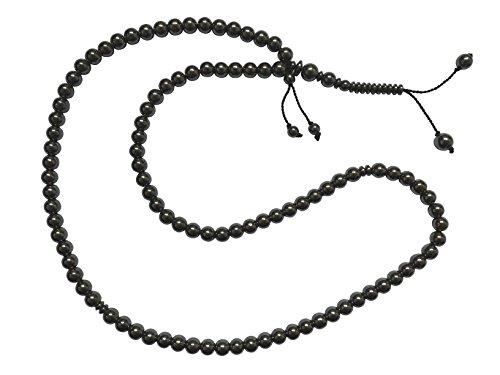 Grand 99-bead Tasbih Pierre Hématite naturelle 8,5mm Perle ronde avec marque place Prière Musulmane zikr perles Rosaire