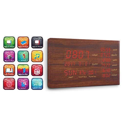 bluetooth speakers bluetooth player SQ600 Bluetooth Speaker Muslim Gift Wood Azan Prayer Clock Display Time Temperature Bluetooth Quran Player Qur'an Multifunction Speaker Alarm Clock Bluetooth