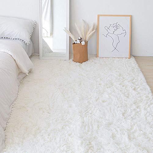 Pelo Largo Fluffy Alfombra,Antideslizante Pelo Largo Fluffy Alfombra,Dormitorio Completamente alfombrado, felpudos tapetes teñidos anudados-F_80 × 160cm