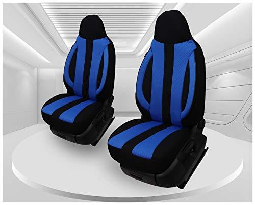 Fundas de asiento compatibles con Volkswagen Caddy, conductor y copiloto, a partir de 2010 – 2015, número de color: MD506.