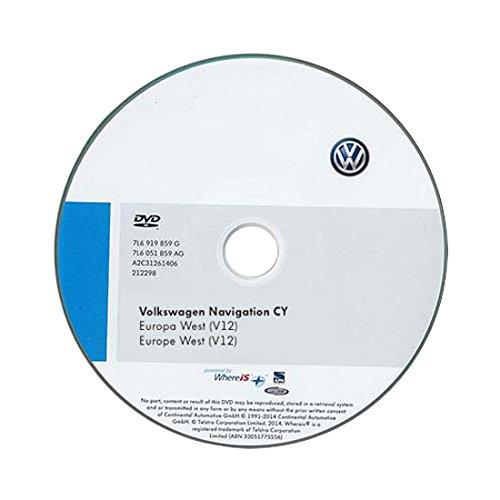 Volkswagen 1T0051859AH DVD-ROM für Navigationssystem für RNS 510/810 CY Europa West (V12)