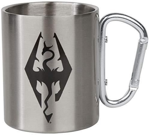 GB Eye Unisex-Tasse mit Skyrim Drachensymbol, Karabiner, Camping, Silber, Standard