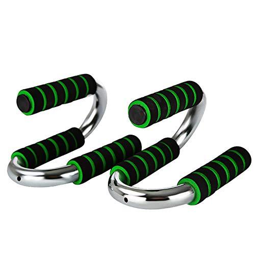 ZoSiP Soportes para Flexiones Máquina de Ejercicios Push-Up Family Family Push-Up Máquina de Ejercicios Portátil Muscle Training Support S Type Pushup Stands (Color : Green, Size : 19.5x12.5x10.5cm)