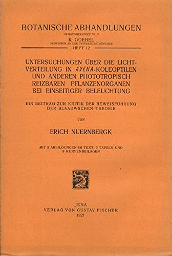 Untersuchungen über die Lichtverteilung in Avena-Koleoptilen