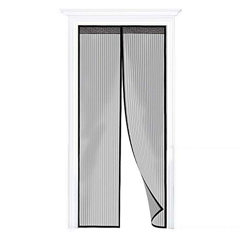 DIY Mosquitera para Puerta, Magnética Cortina de Puerta en Malla Antiinsectos 100x210cm, Pantalla Antimosquitos/Insecto para Dormitorio/Sala de Estar/Balcón