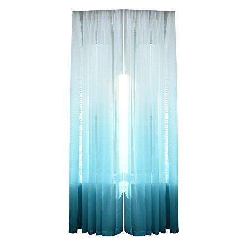 Demiawaking Farbverlauf Vorhang Gardine Transparent Balkon Schlafzimmer Dekoration (Blau)