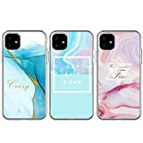 BEAULIFE Case for iPhone 11 Case 3pcs Painted Series Phone Case Cover Full Body Protective Soft Flexible TPU Case Marble